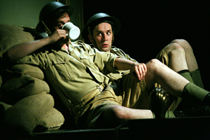 How does he DO that? Milligan (Sholto Morgan) admires the ability of Edgington (Dominic Gerrard) to conjure up a cuppa in the most unlikely places